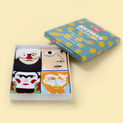 Chatty feet artist socks gift box